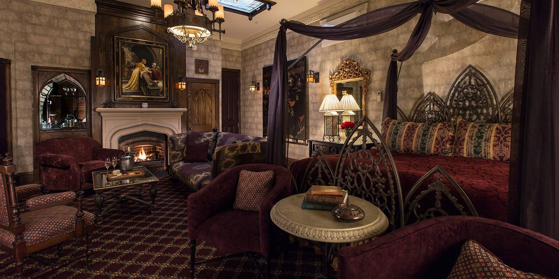 luxury gothic room at the chanler