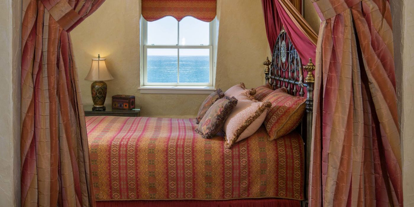 The Mediterranean Guest Room features panoramic ocean views from all windows