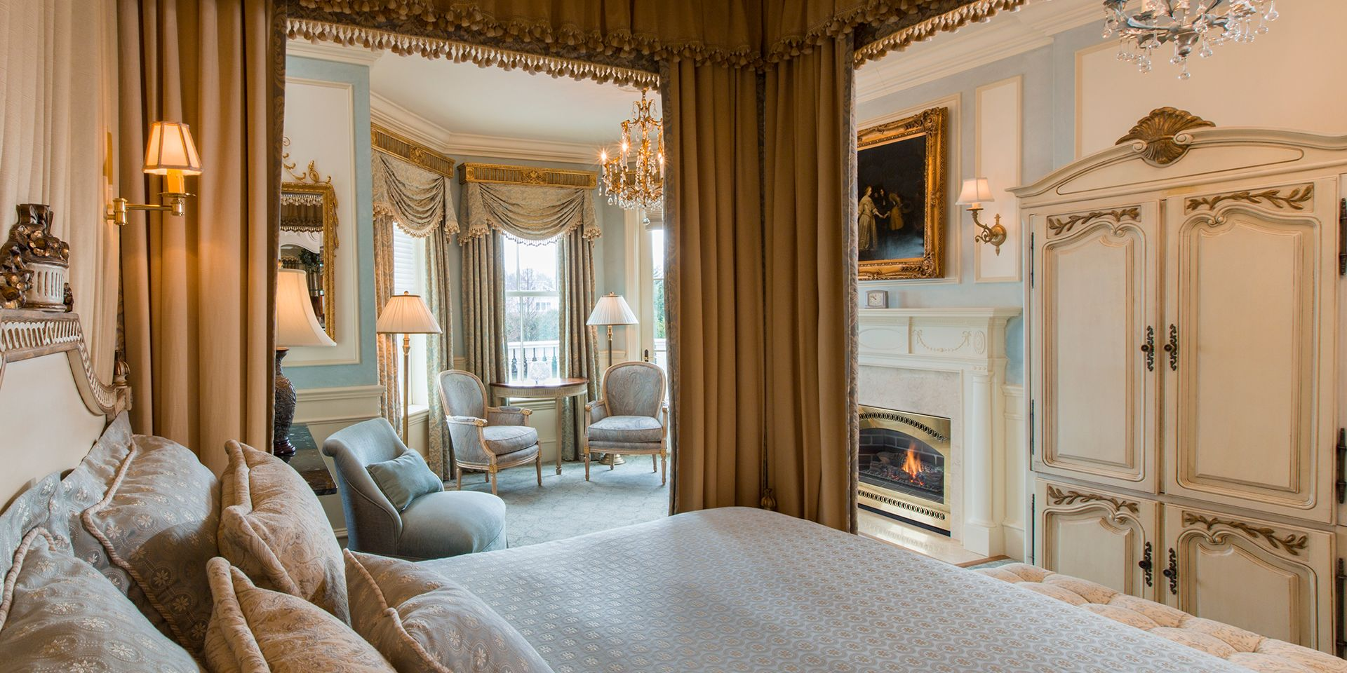 The Chanler's 20 unique guest rooms like our Louis XVI guest room allows guests to create a customized itinerary for their trip to Newport