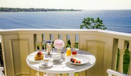 Enjoy breakfast on your private outdoor balcony.
