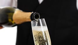Celebrate your arrival with a bottle of chilled champagne